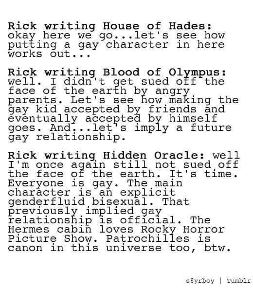 #PJO #HoO #ToA | Rick Writing HoH, BoO, and THO | Nico di Angelo | Solangelo | by s8yrboy