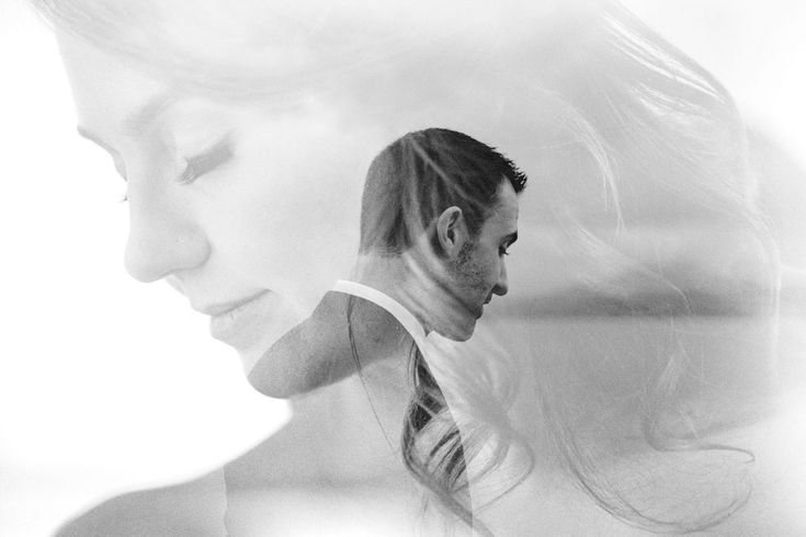 Double Exposure Wedding Photos