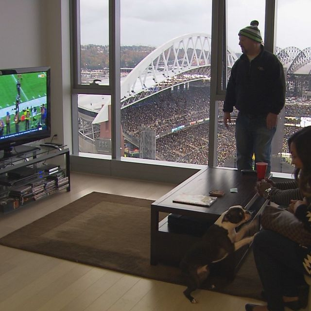 What's it like to live high above Seahawks CenturyLink Field? Heaven on earth if you ask me!!