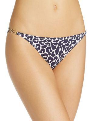 TORY BURCH Clouded Leopard Print Bikini Bottom. #toryburch #cloth #bottom