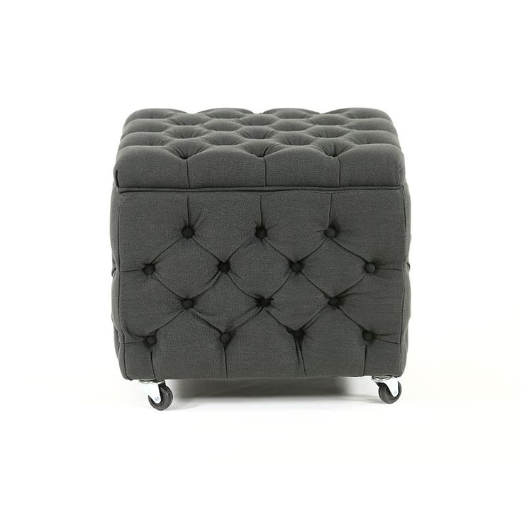 Our beautifully designed square storage ottoman in Charcoal is a stand out, not only for its lovely soft buttoned exterior, also for its functional interior....