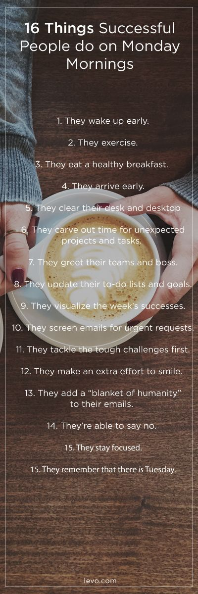 Your Monday Morning to-do list! MORE than just your morning coffee. www.levo.com