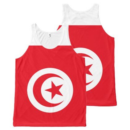 #Tunisia Flag All-Over-Print Tank Top - #country gifts style diy gift ideas