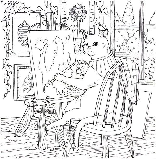 Cat Coloring Therapy Coloring Book Download In 2020 Coloring Books Cat Coloring Book Coloring Book Download