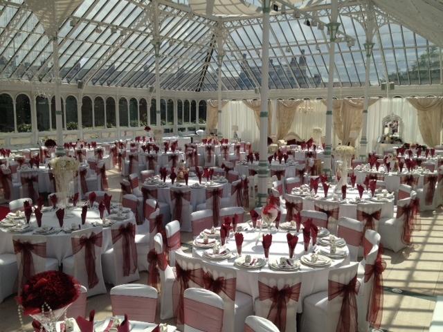 Beautiful glasshouse wedding venue