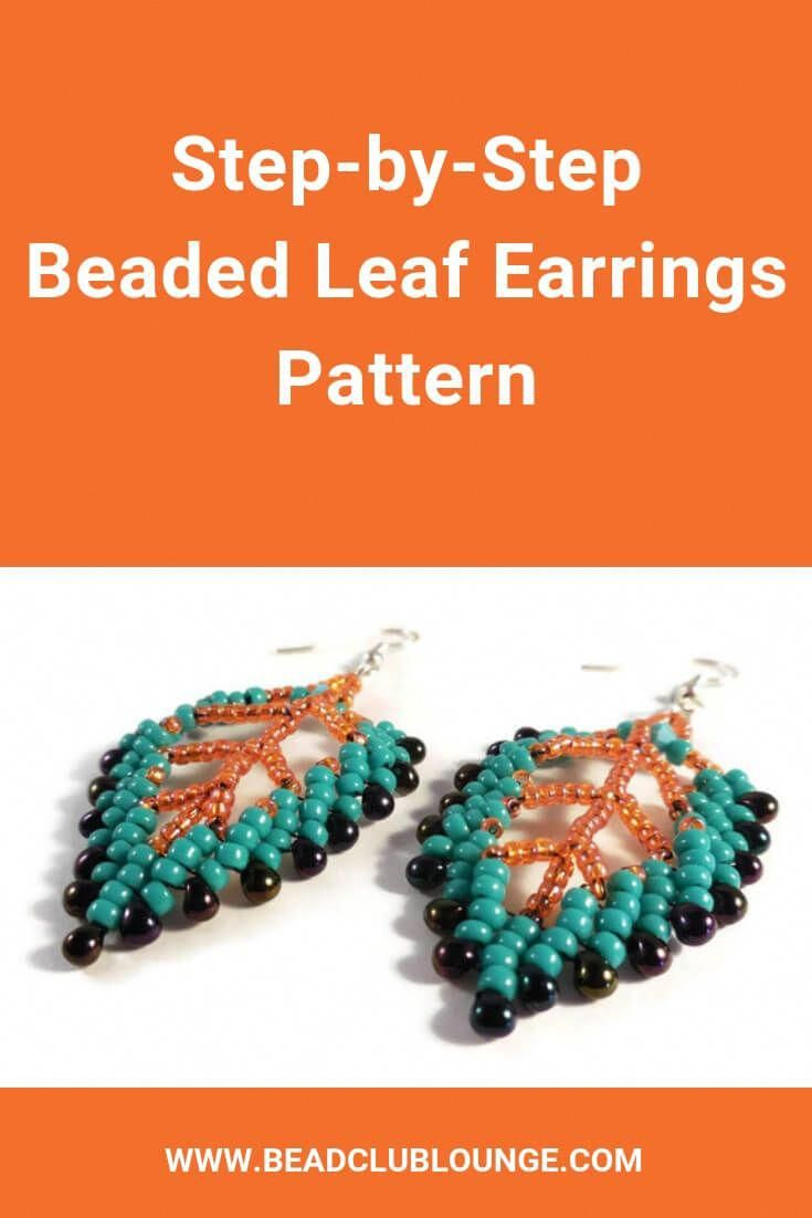Diy Beaded Leaf Earrings Using This Easy Bead Weaving