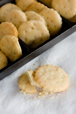 I have got to try making these! Ritz crackers are one of our dirty, little processed food favorites.