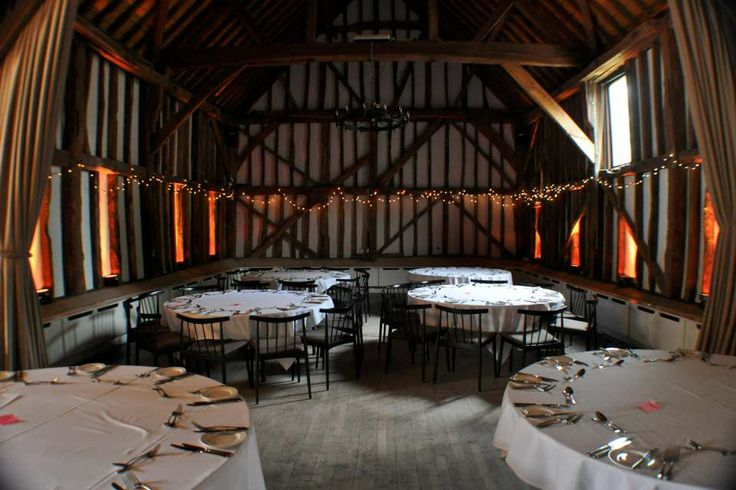 Gold uplighting at the Olde Bell Hurley for a May wedding
