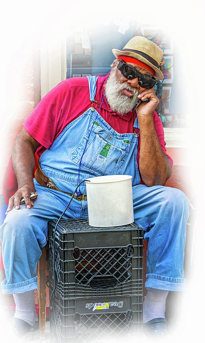 "Grandpa Elliott Small - Vignette. Grandpa Elliott Small, born Elliot Small in 1945, also known as Uncle Remus, is a veteran street-musician in New Orleans, Louisiana. He plays the harmonica, sings, and is a street icon in New Orleans. Here he is taking a break on the corner of Royal and St Peter streets in the French Quarter. His performance of ""Stand by Me"" was the centerpiece of a popular and moving video by a handful of artists from around the world."
