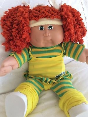 Vintage-Cabbage-Patch-Doll-Kid-Orange-Popcorn-Hair-in-Fantastic-Condition