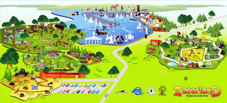 Mapa parków Zatorland | zoom | digart.pl