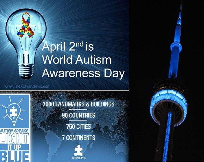 April 2 is World Autism Day so be be sure to Light It Up Blue! Light It Up Blue, annually observed on April 2, is dedicated to raising international awareness of autism in support of both World Autism Awareness Day and Autism Awareness Month. #autism