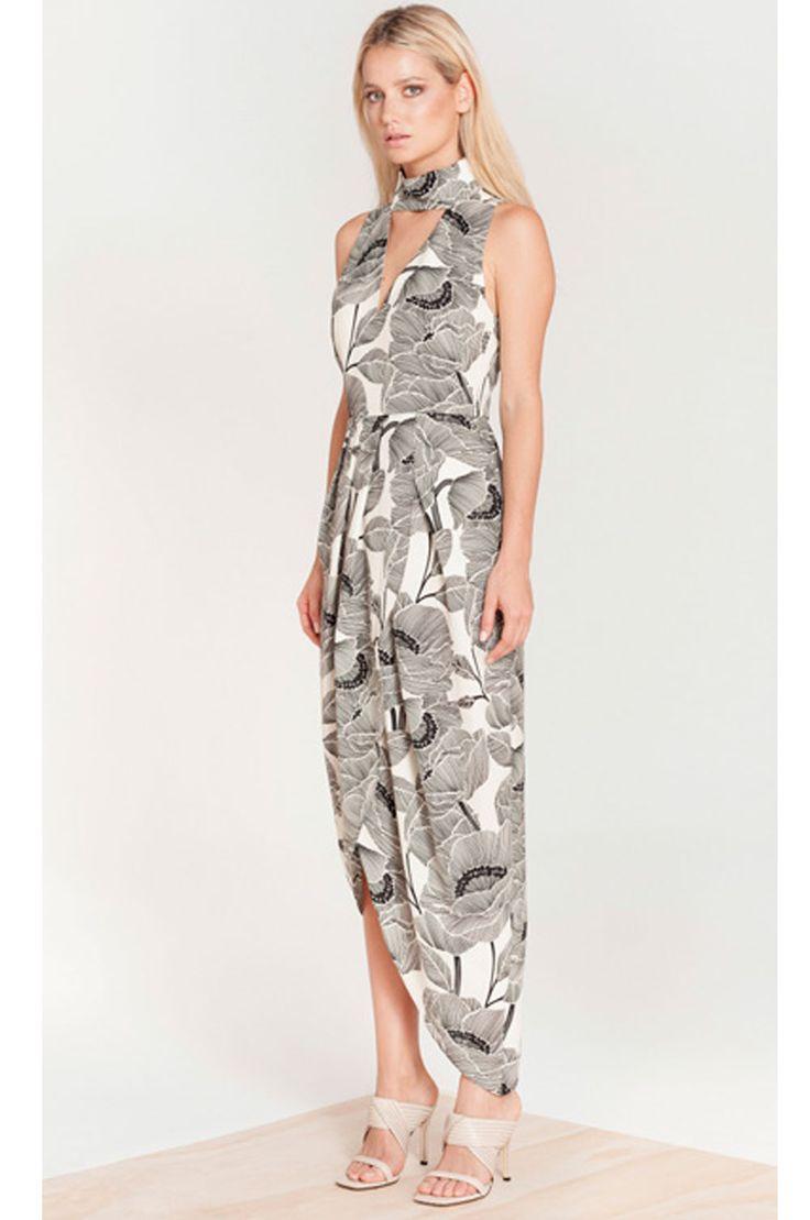 Elliatt - Streak Print Choker Dress