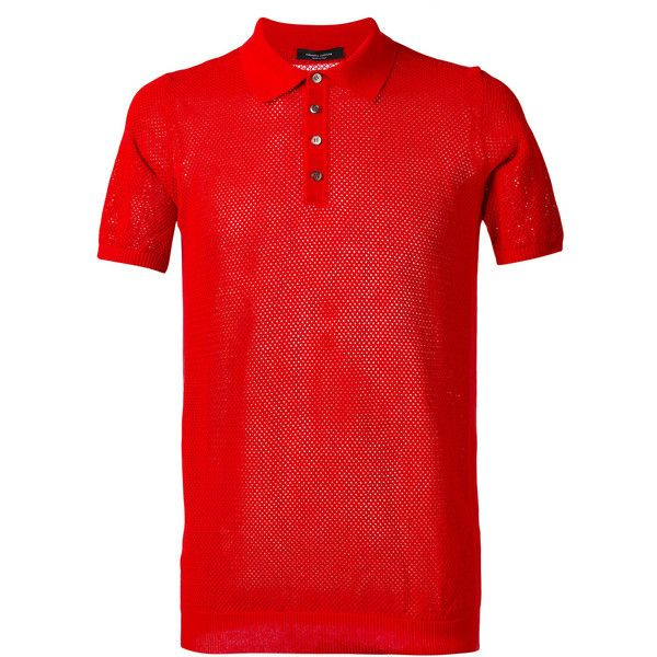 Roberto Collina plain polo shirt ($163) ❤ liked on Polyvore featuring men's fashion, men's clothing, men's shirts, men's polos, red, mens polo shirts, mens cotton shirts, mens red polo shirt, mens red shirt and men's cotton polo shirts
