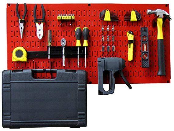 Amazon Com Wall Control Modular Pegboard Tool Organizer System Wall Mounted Metal Peg Board Tool Storage U Organizing Systems Tool Organization Tool Storage
