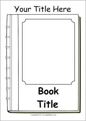 Editable book cover templates - black and white (SB10422) - SparkleBox