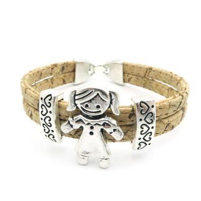 """Bracelet artisanal en liège coloré """"Petit garçon et petite fille"""" #fashion #bijoux #bijou #bijouxfaitmain #bijouxenliege #bracelet #bracelets #bagues #bague #collier #colliers #éthique #écologique #fille #femme #tendance"""