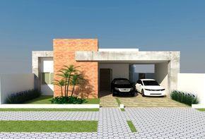 fachadas de casa terrea - Pesquisa Google Для навеса. Такая форма