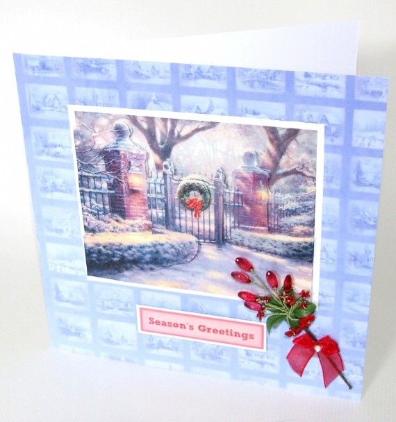 thomas kinkade christmas lights decoupage from Joanna Sheen