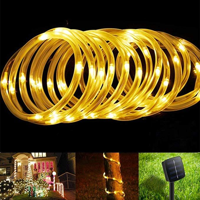 Bluefire Solar Rope Lights 12m 39ft 100 Leds Automatically Turn