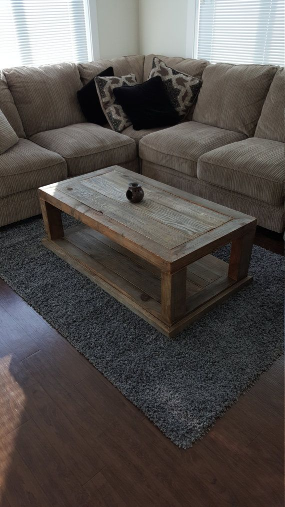 This Vintage Wooden Coffee table is made from reclaimed wood found in the Okanagan Valley in British Columbia Canada. After finding the wood