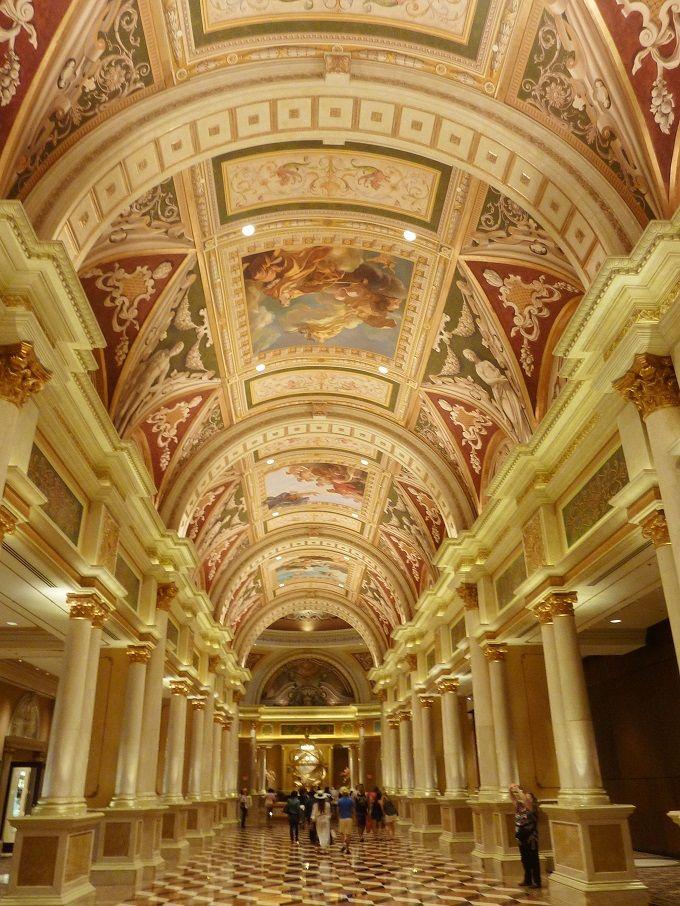 米国ラスベガスのホテル「ベネチアン」にて。The Venetian Hotel in Las Vegas, USA.