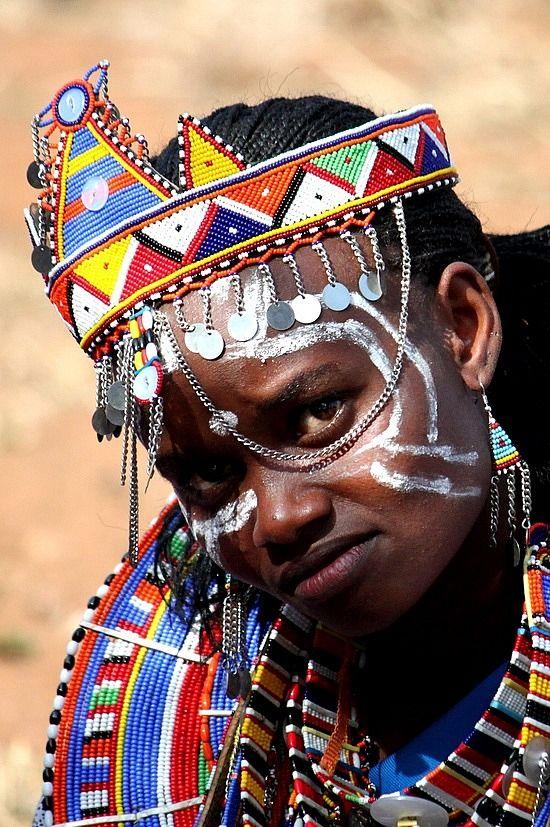 Africa |  Portrait of a Maasai woman.  Ngong, Rift Valley, Kenya | © Africanskies on TravelPod