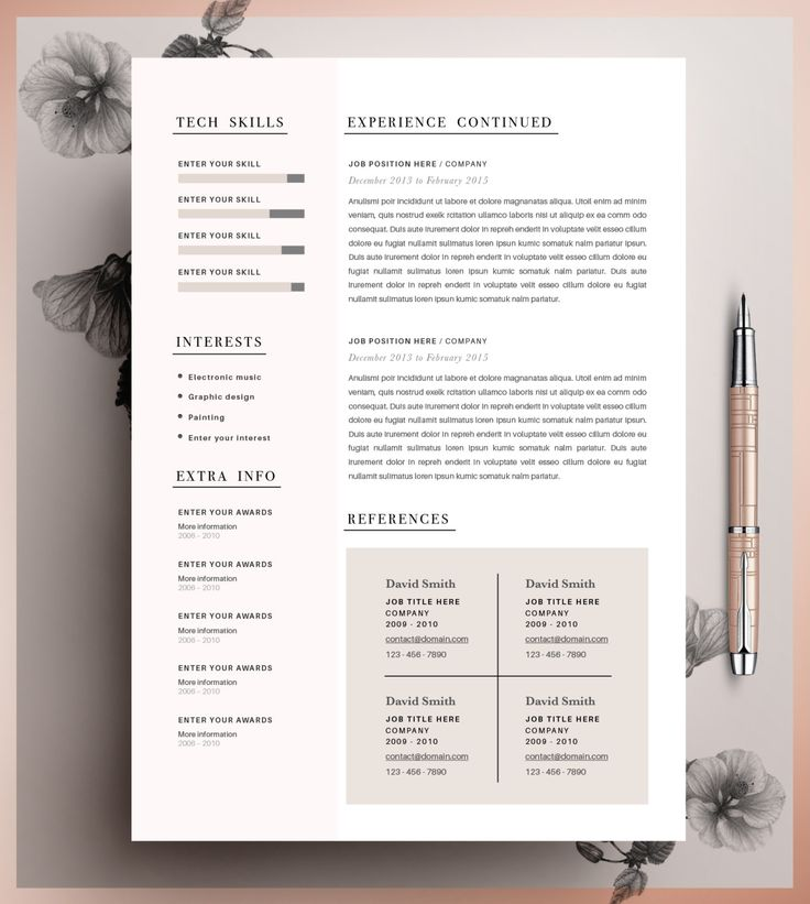 Unique Resume Formats 8 Best Resume Images On Pinterest  Cv Template Resume Templates