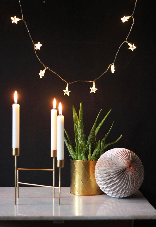 #Geometrical #brass #candleholder http://www.aprilandthebear.com/home-accessories/three-brass-candleholder