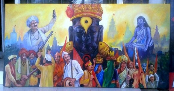 Vitthal Acrylic on canvas