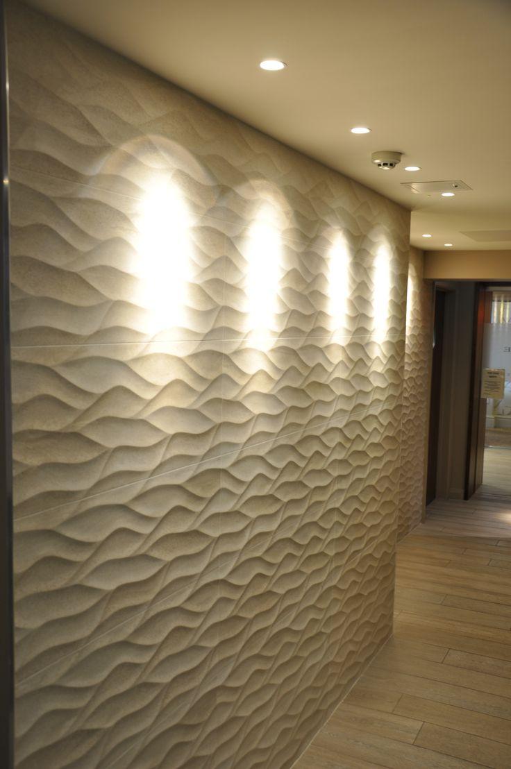 Textural tiling, Voyage Spa, Thurlestone Hotel