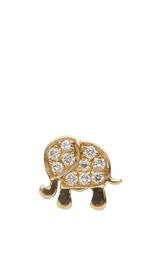 "18 K Yellow Gold And Diamond ""Happiness"" Elephant Charm by LOQUET LONDON for Preorder on Moda Operandi"