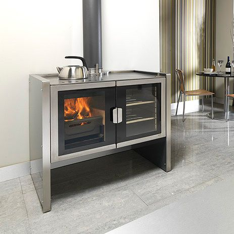 Firebelly Razen Wood Burning Stove Cookstove, a modern take on the aga classic