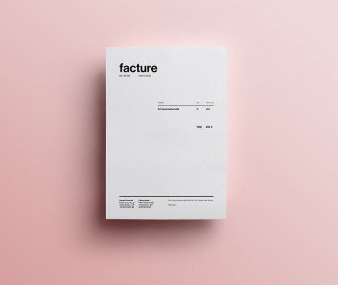 Invoice Design: 50 Examples To Inspire You