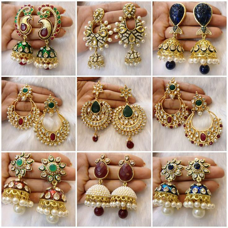 Earring Indian Bridal Beautiful Jhumka Collection Chandbali Jewels In 2018 Pinterest Jewelry And Earrings