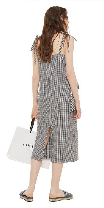 Платье-комбинация с воланом