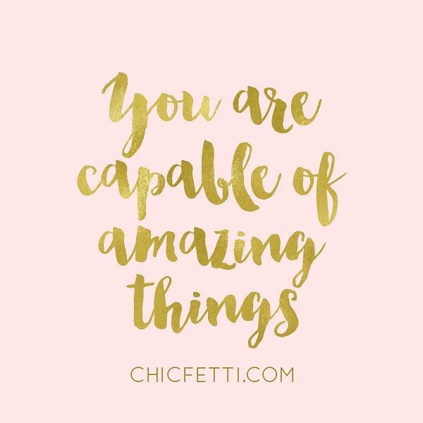 Tell yourself this every day! Just a couple of things... 1) I hope y'all have been enjoying the giveaways. I've had so many because I wanted to go through my giveaway stash by the end of the year. I have one more giveaway going up next week and that will be it for this year. The giveaways will pick back up next year. 2) I have some fun things coming up for Chicfetti that I think you'll love. I've been working like crazy trying to make things happen. Have a great day! Xo, Jenny