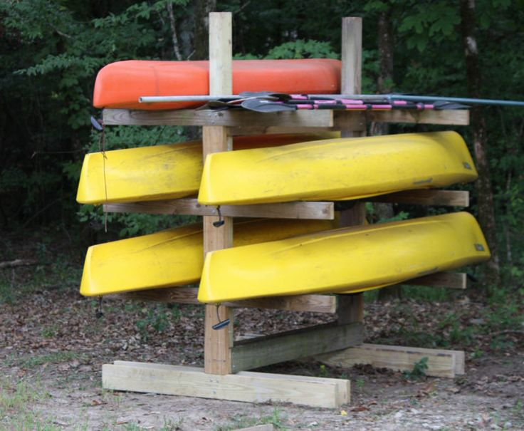 Canoe And Kayak Rack Outdoor Storage