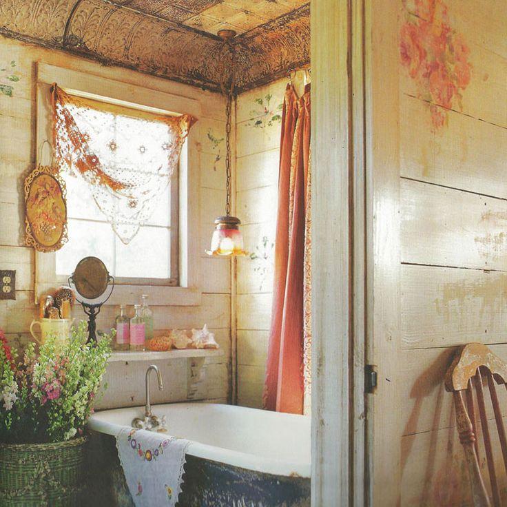 34 Rustic Bathroom Decorating Ideas Window Magnolias