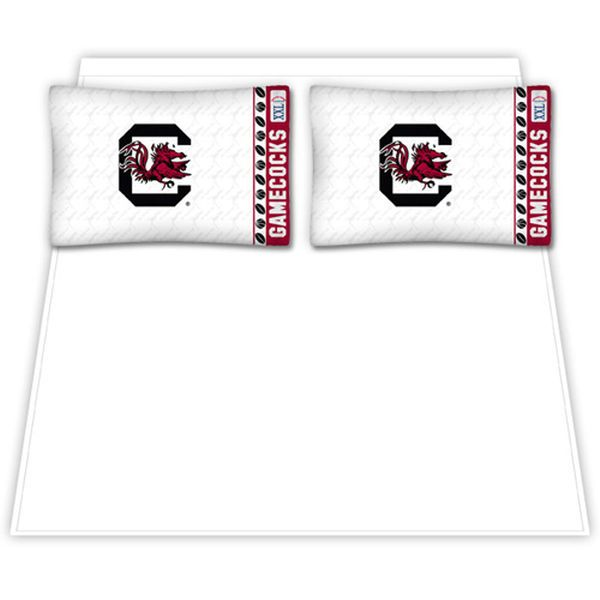 South Carolina Gamecocks Queen Size Sheet Set - $69.99