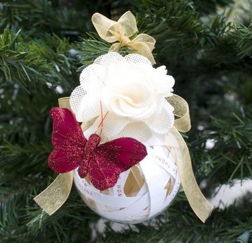 Christmas Wedding Invitation Ornament (Our Trek: Recycled Wedding  Invitation Ornament)