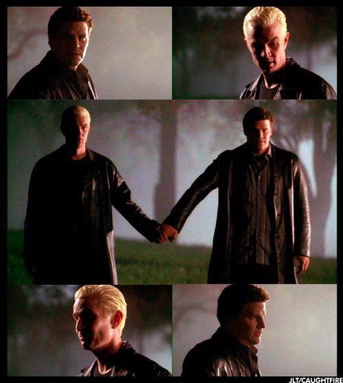 Spike: Strategy? // Angel: Just hold my hand. // Spike: St. Petersburg. // Angel: Thought you'd forgotten. -- I love that Spike doesn't even question it, he just shrugs and takes his hand