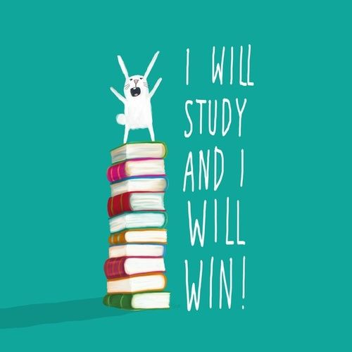 I will study and I will win! Here's to the rest of finals week. Don't let a stupid minor number switch make you upset.