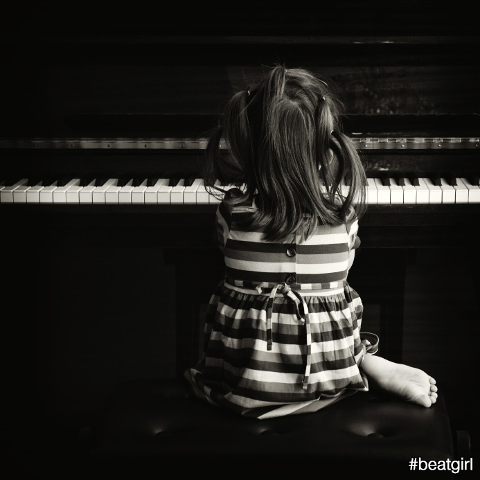 Since I was 5 I never spent one single day without touching the piano. I used to practice at least two, three, even five hours a day, painstakingly looking for perfection. #beatgirl #music #piano #perfection #girl
