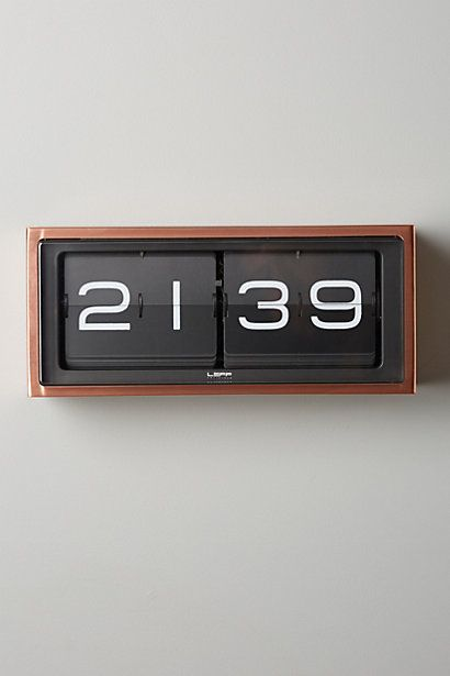 Retro Wall Clock anthropologie.com #anthroregistry