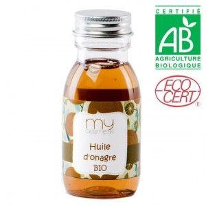 Huile d'Onagre BIO : Superbe huile anti-âge, antiride, elle protège la peau d'un vieillissement précoce. Elle est très riche en Oméga 3. Elle adoucit et régénère la peau, la protégeant des agressions extérieures.