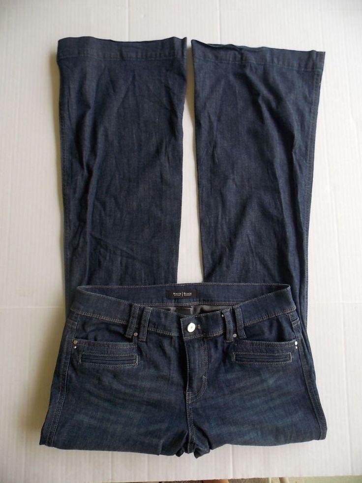 White House Black Market 4r Small Trouser Leg Blue Jeans Denim Womens tall long…
