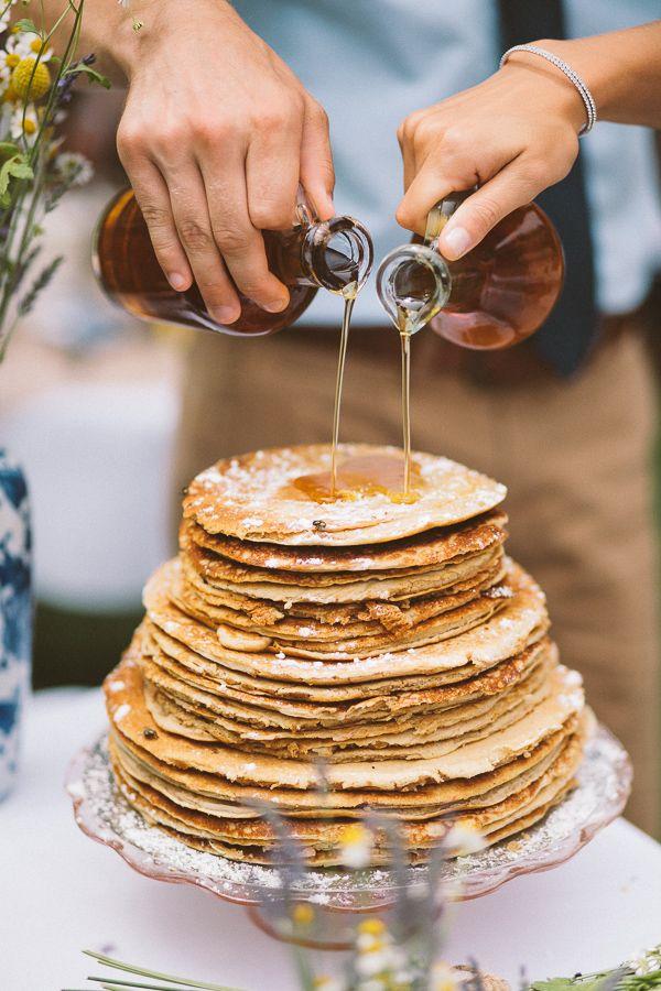 What a fun and unique version of a wedding cake!  Ha ha ha