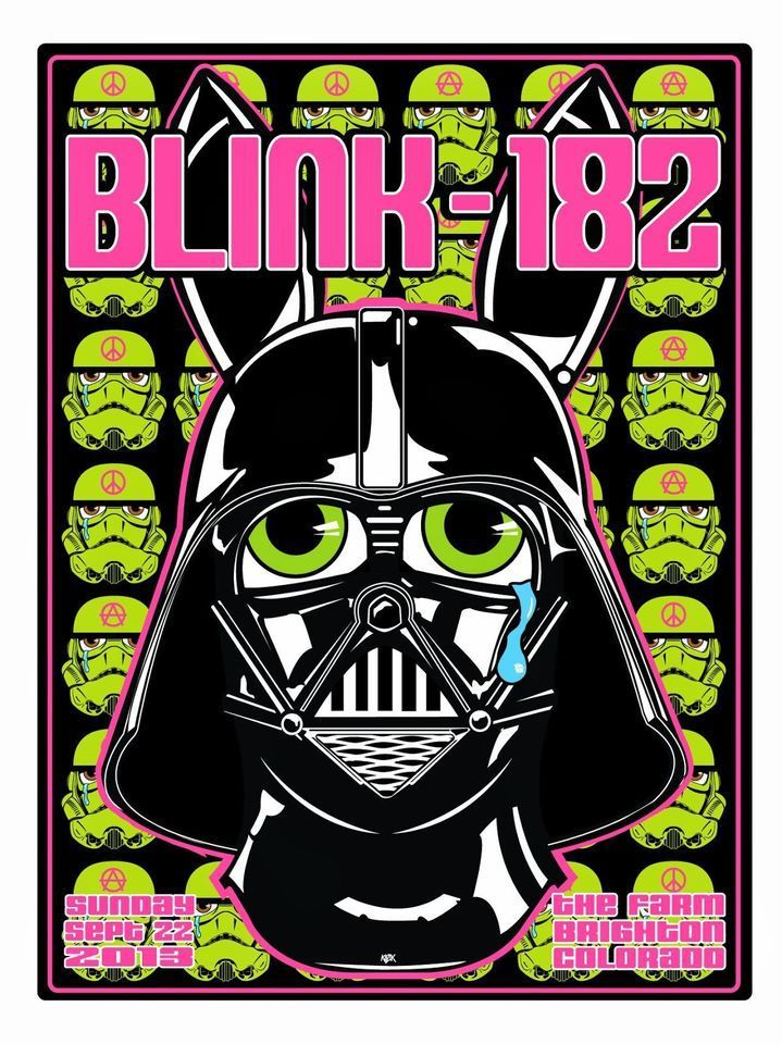 Lazy Labrador Records - Blink 182 · Brighton CO 9/22/13 · Silkscreen Poster, $159.99 (http://lazylabradorrecords.com/blink-182-brighton-co-9-22-13-silkscreen-poster/)