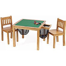 Exactly what I'm looking for - turns into a normal table when not playing with Legos...